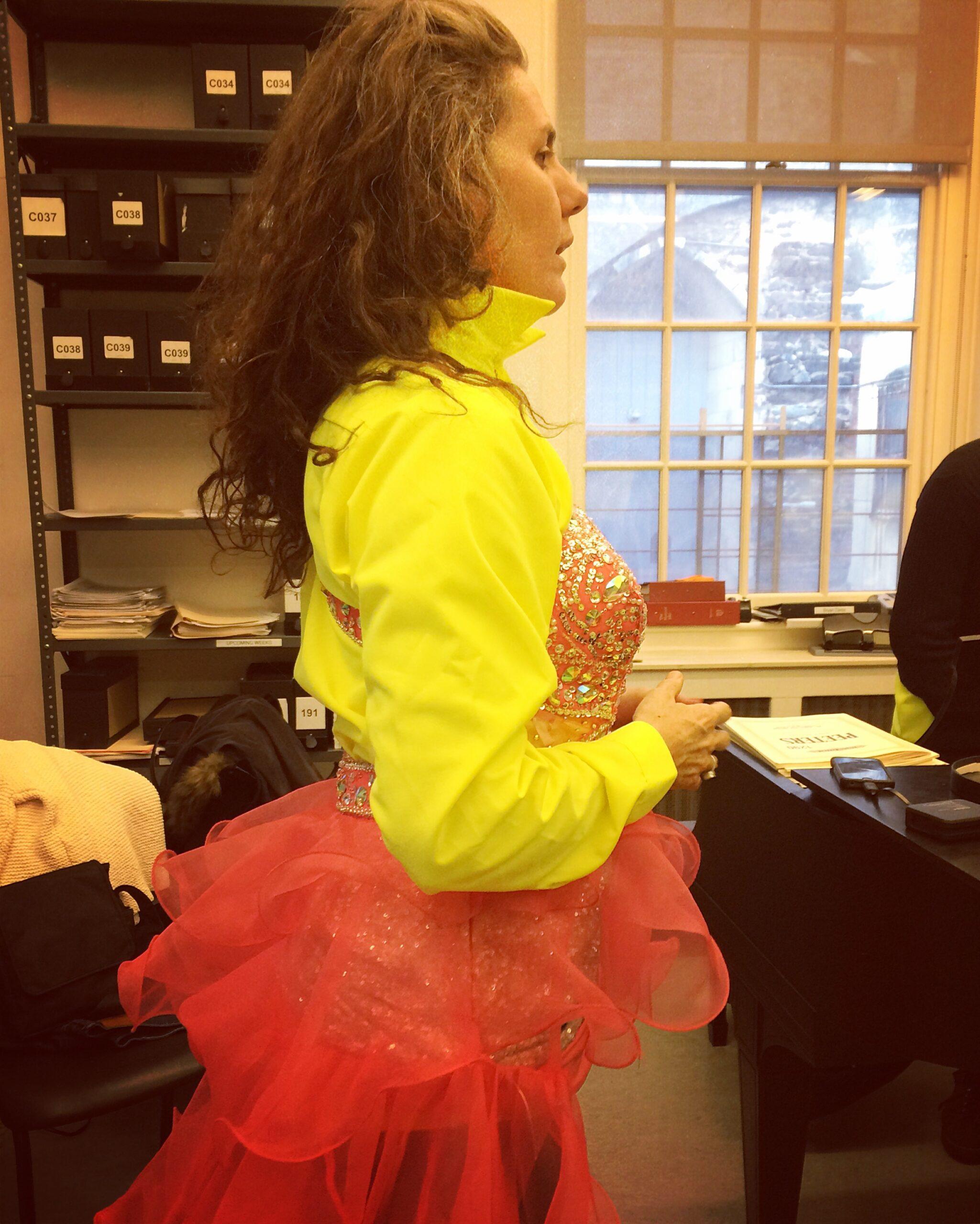 Savitri D in Stop Shopping Choir costume dress