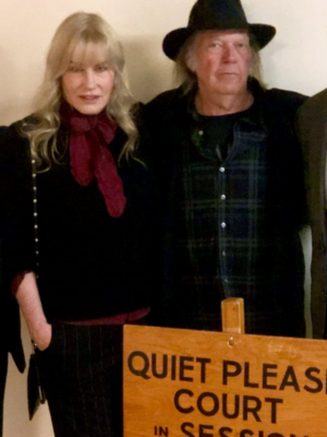 Neil Young and Darryl Hannah