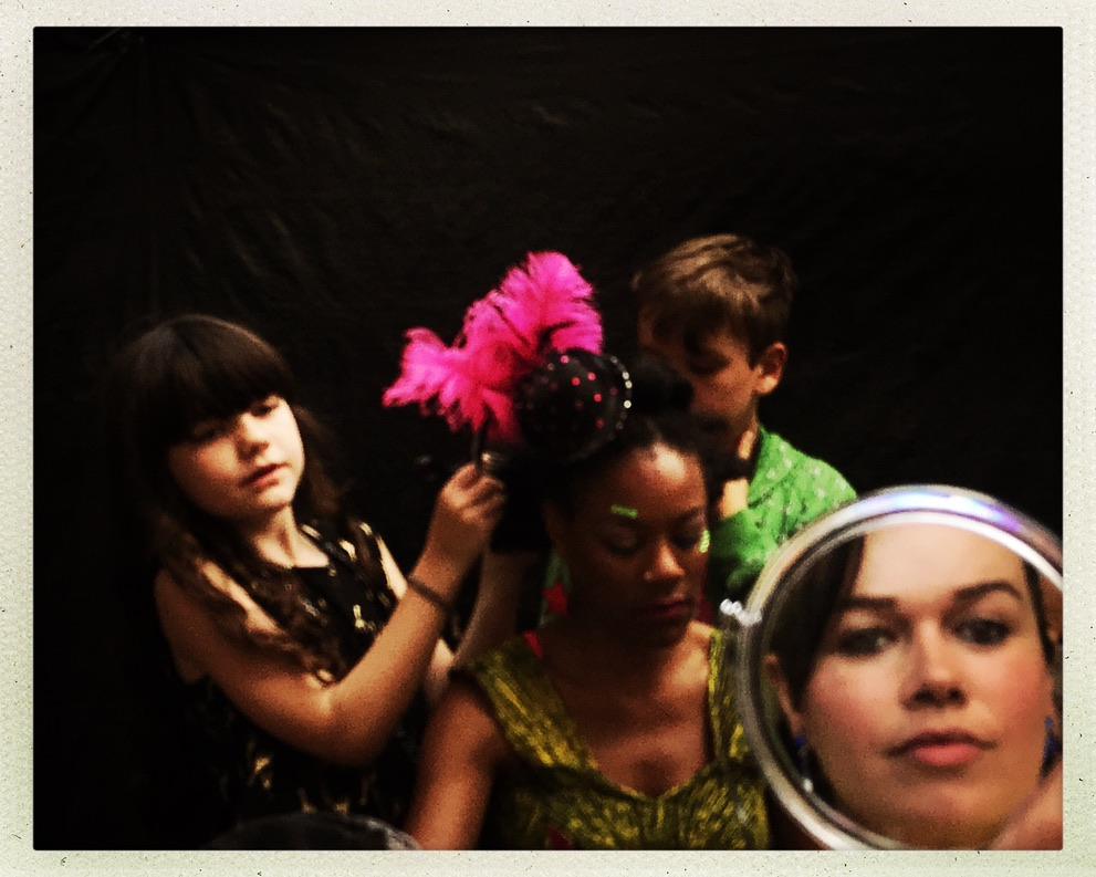 Stop Shopping Choir member's children doing hair and makeup