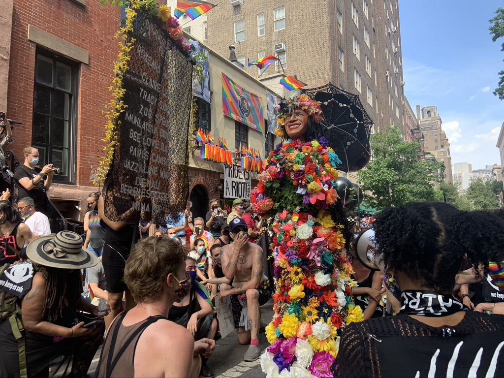 Stop Shopping Choir Martha P Johnson Float for Pride