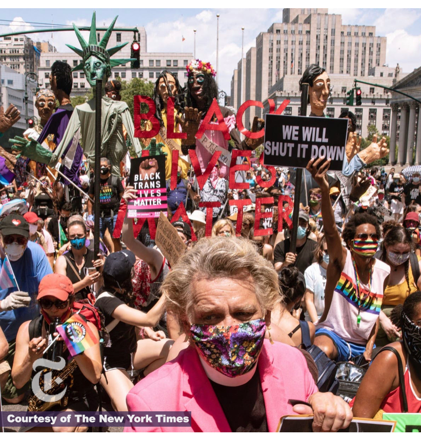 Stop Shopping Choir Black Lives Matter Protest image from The New York Times
