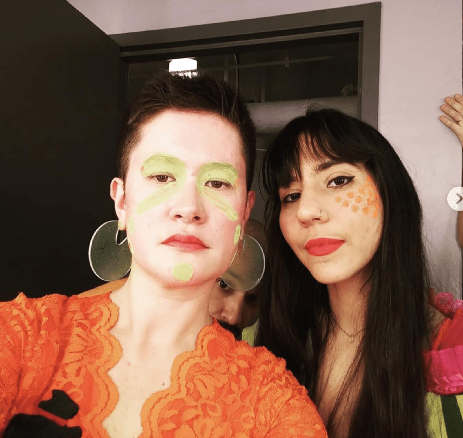 Stop Shopping Choir members in makeup